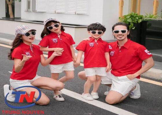 Áo phông gia đình dạng cổ bẻ